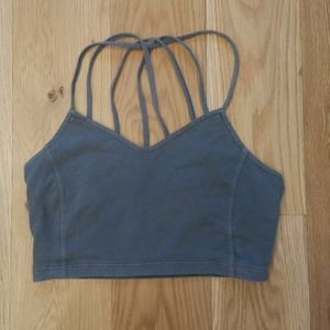 American Eagle strappy bralette in army green